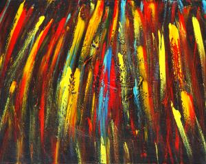 Artist Ralph White Painting Shooting Stars Is A Competition Winner In Abstracts Competition